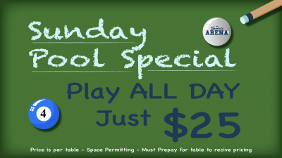 Sunday Pool Special